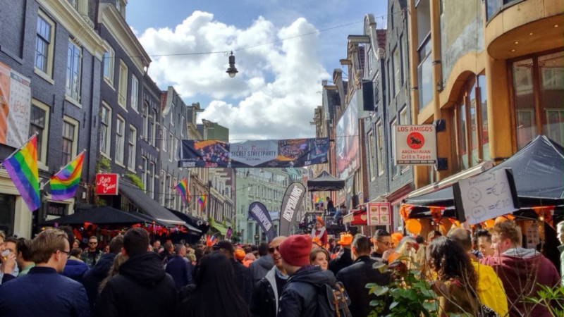 Street party koningsdag Amsterdam