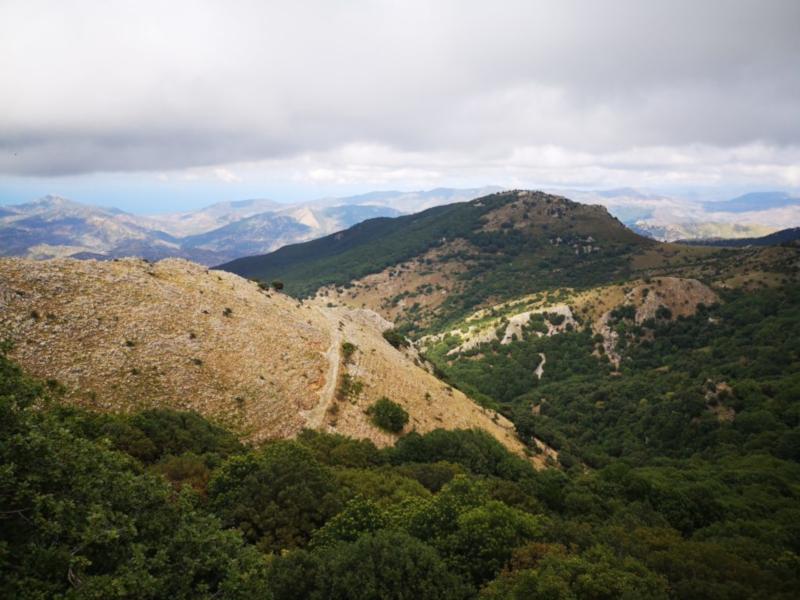 Il panorama dal sentiero delle aquile