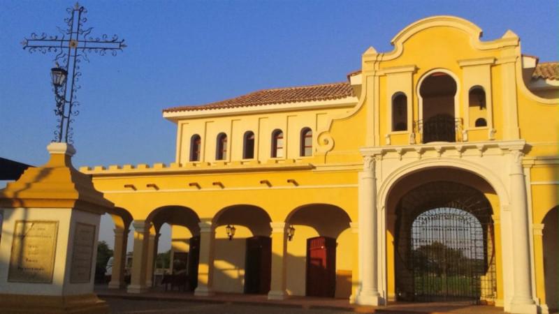 La piazza principale di Mompox