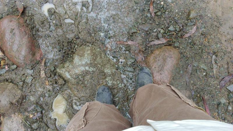 I miei stivali di gomma a noleggio per il trekking della Valle del Cocora