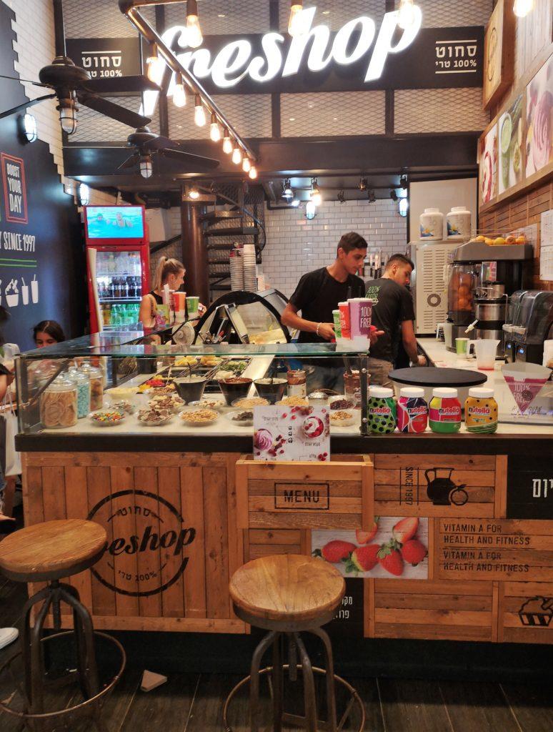 Freshshop in Dizengoff 50 al centro commerciale di Tel Aviv