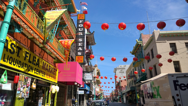 Quartiere Chinatown vicino il Financial District