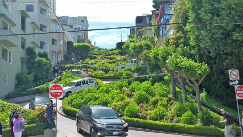 Lombard street in Russian hill