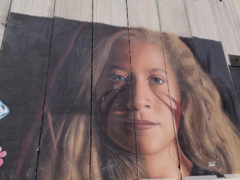 il murales di betlemme dello street artist italiano jorit