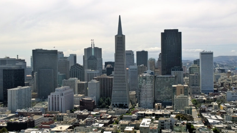 Il panorama su financial district di san francisco