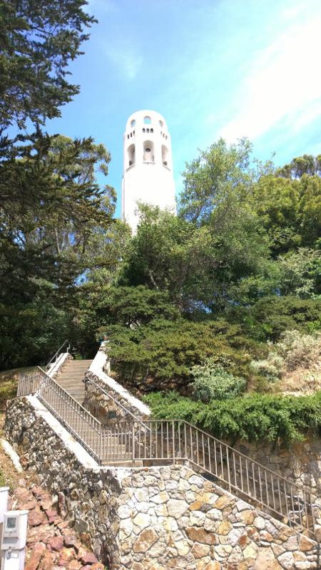 Gli scalini per salire sulla coit tower p