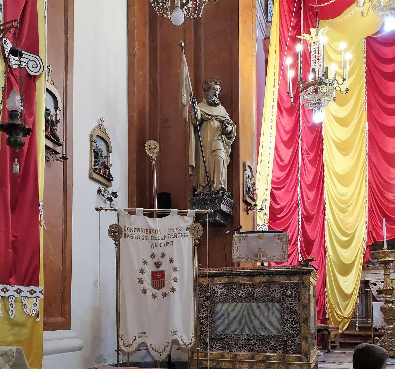 Un angolo della chiesa della madonna della Mercede
