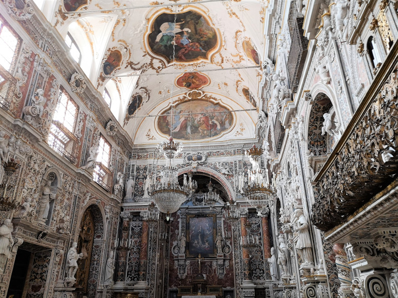 Interno della chiesa Immacolata concezione