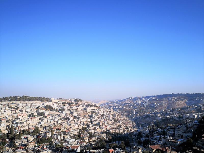 Gerusalemme vista dall'alto Ramparts Walk
