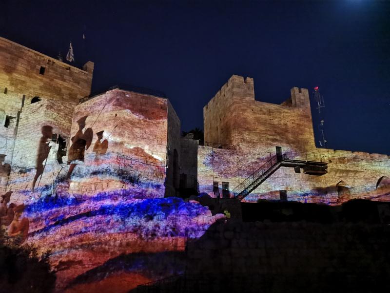 Lo spettacolo di Re David a Gerusalemme