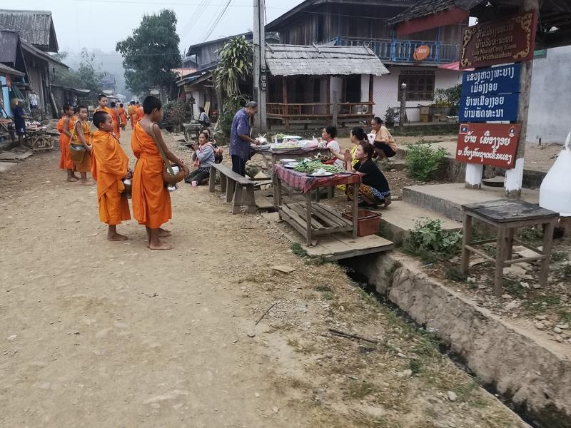 Da fare assolutamente in Laos:cerimonia delle elemosine