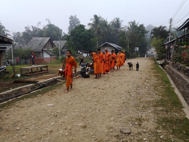 Da fare in Laos : asstere alla cerimonia Tak Batass