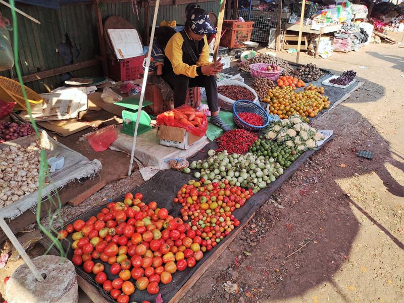 Il mercato popolare di Pakse
