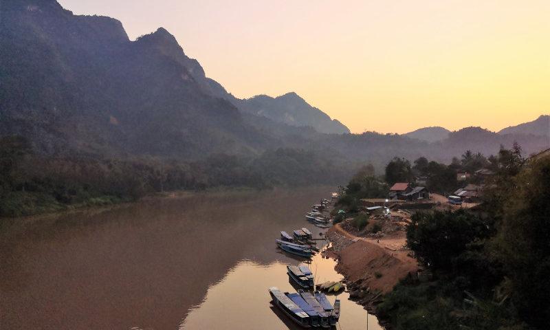 Il tramonto di Nong khiaw