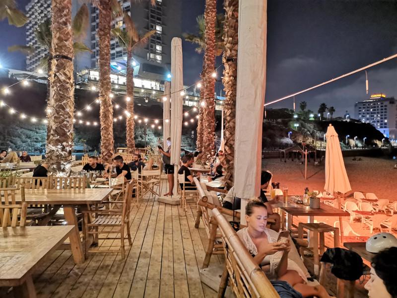 Hilton Beach by night