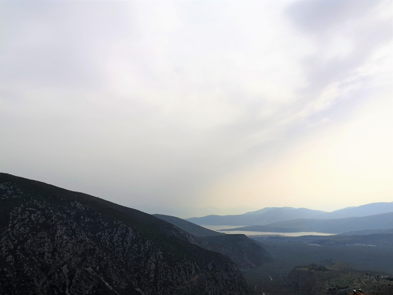 Panorama dall'hotel Tholos