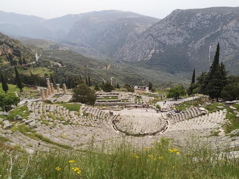 Teatro del sito archeologico di Delfi