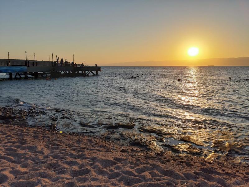 Il tramonto ad Aquaba del viaggio in Giordania