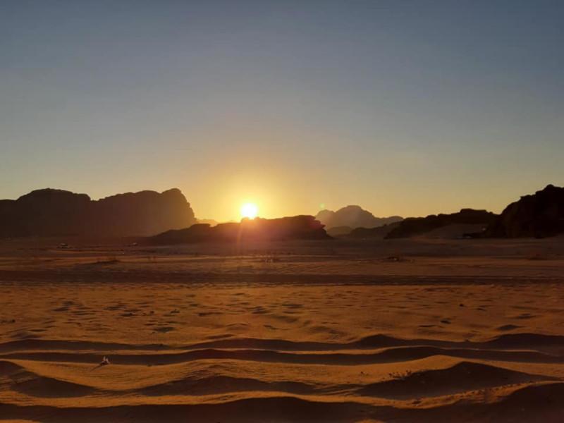 Gordania, Tramonto al Wadi Rum