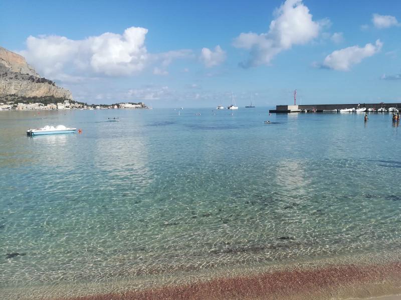 Spiaggia di Mondello in inverno