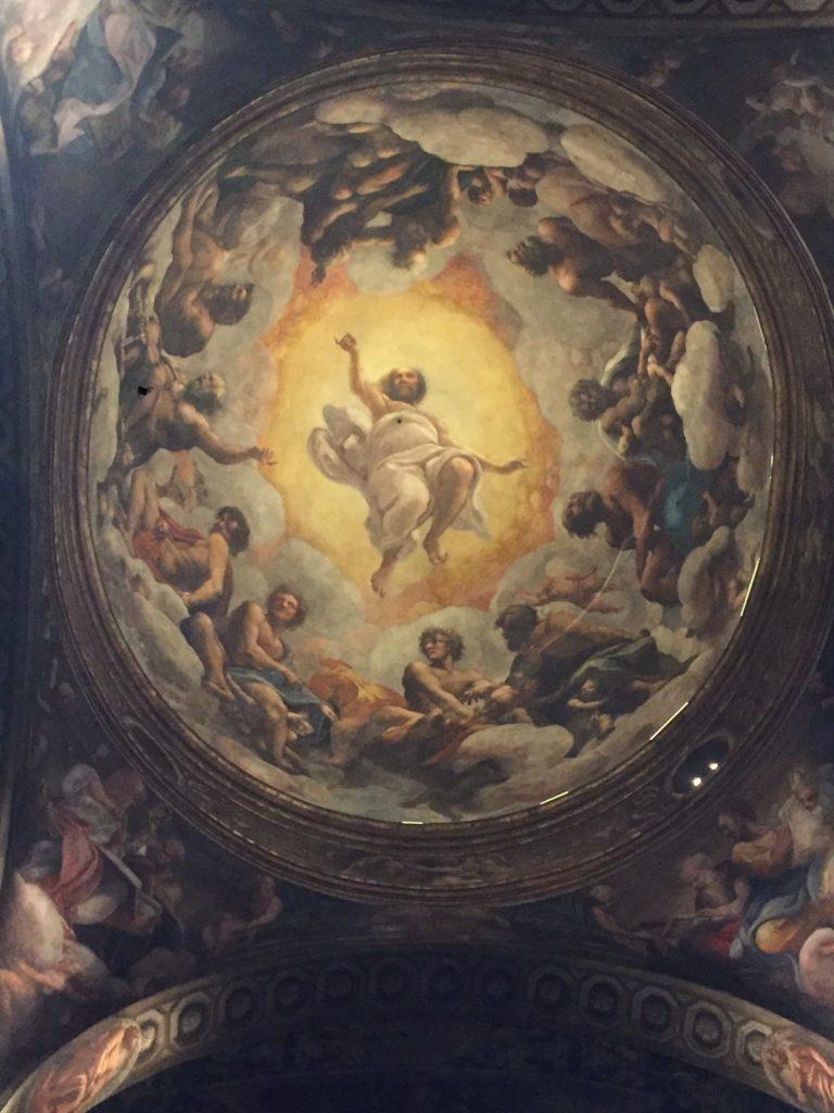 La cupola di San giovanni a Parma con gli affreschi del Correggio