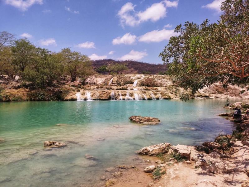 La cascata di wadi darbat in Oman
