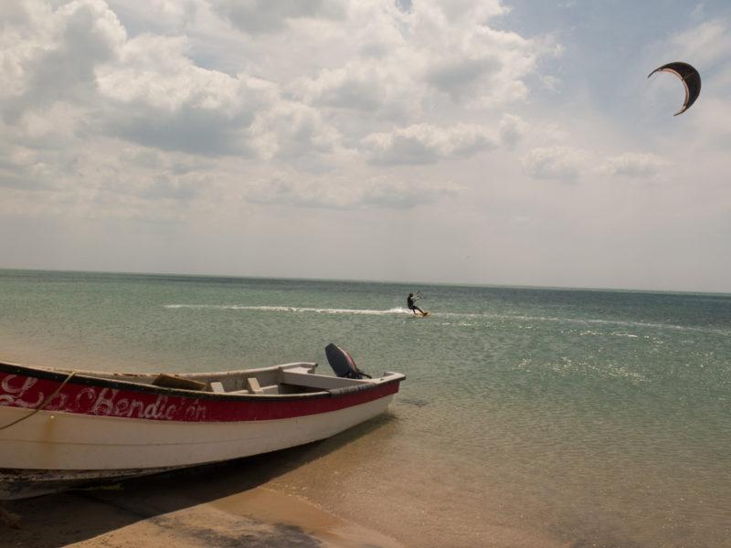 Kite a Cabo de la vela nella guajira in Colombia