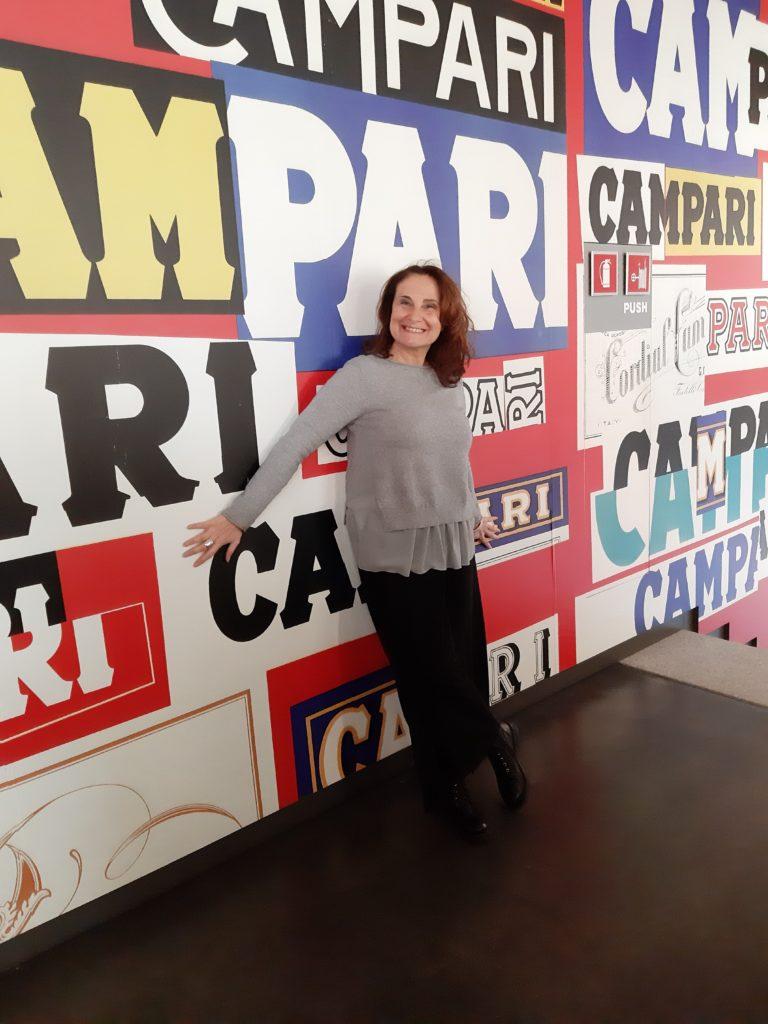 Deb in Galleria Campari