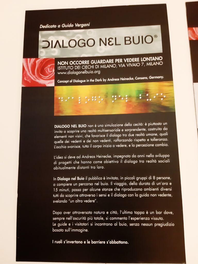 Esperienza Dialogo nel Buio Milano