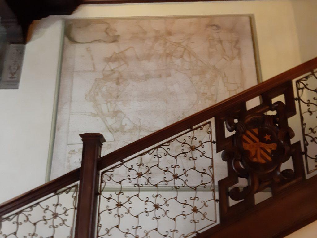 La mappa di Milano del 700 della sala dello scalone della casa degli atellani e la vigna di Leonardo a Milanoppa-milano-settecento-