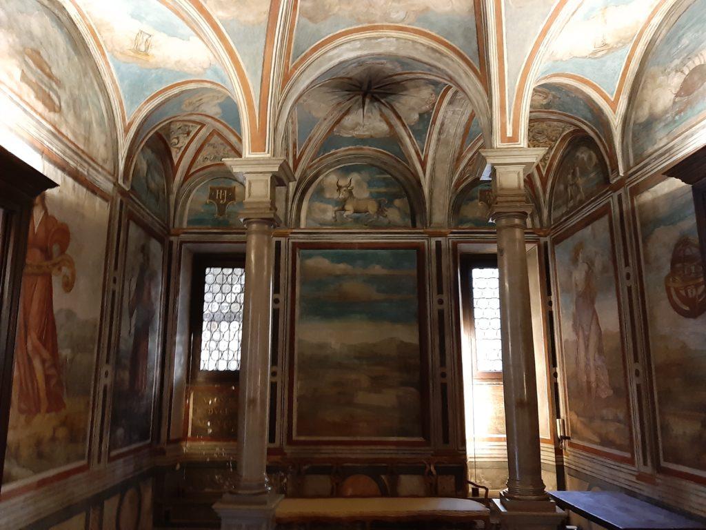 La sala dello zodiaco della casa degli Atellani e la vigna di Leonardo di Milano