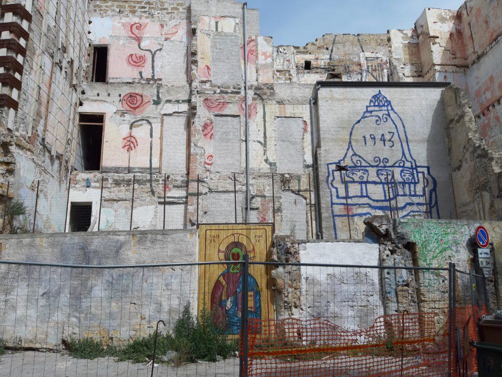 Murales cortile della morte della Vucciria di Palermo