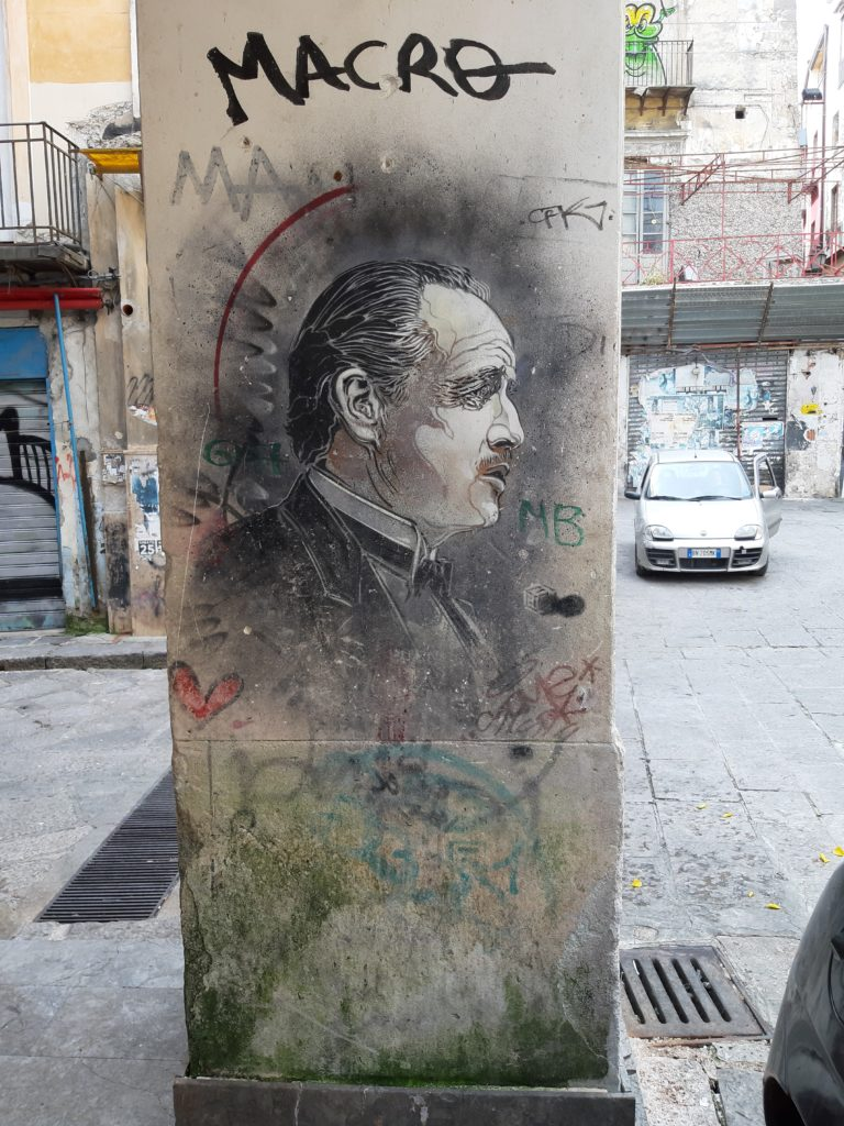 Il murales del padrino della Vucciria di Palermo