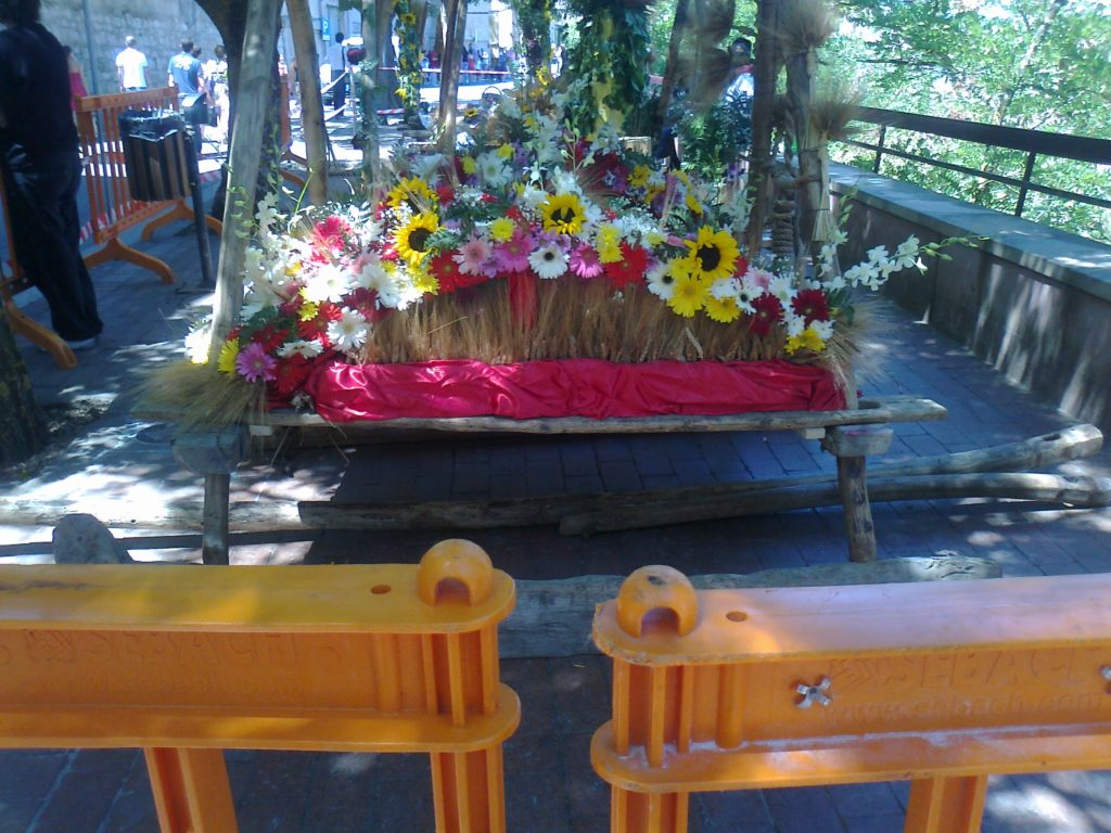 Spighe e fiori dell'evento folcloristico di Ganci