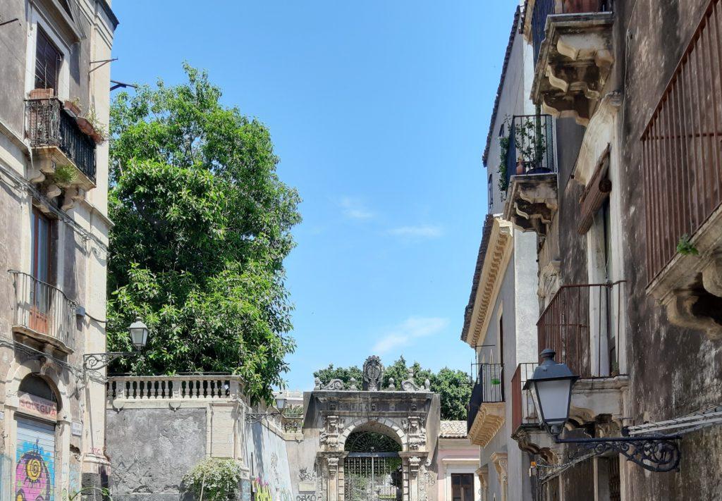 Ingresso Villa Cerami a Catania