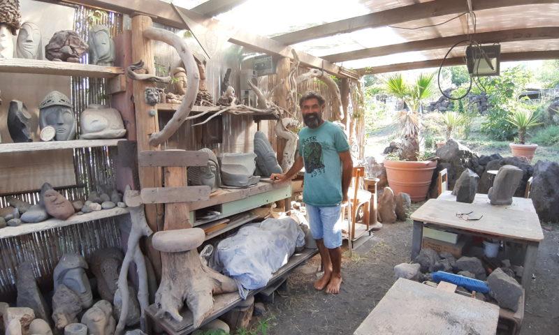Salvatore Russo lo scultore di Stromboli