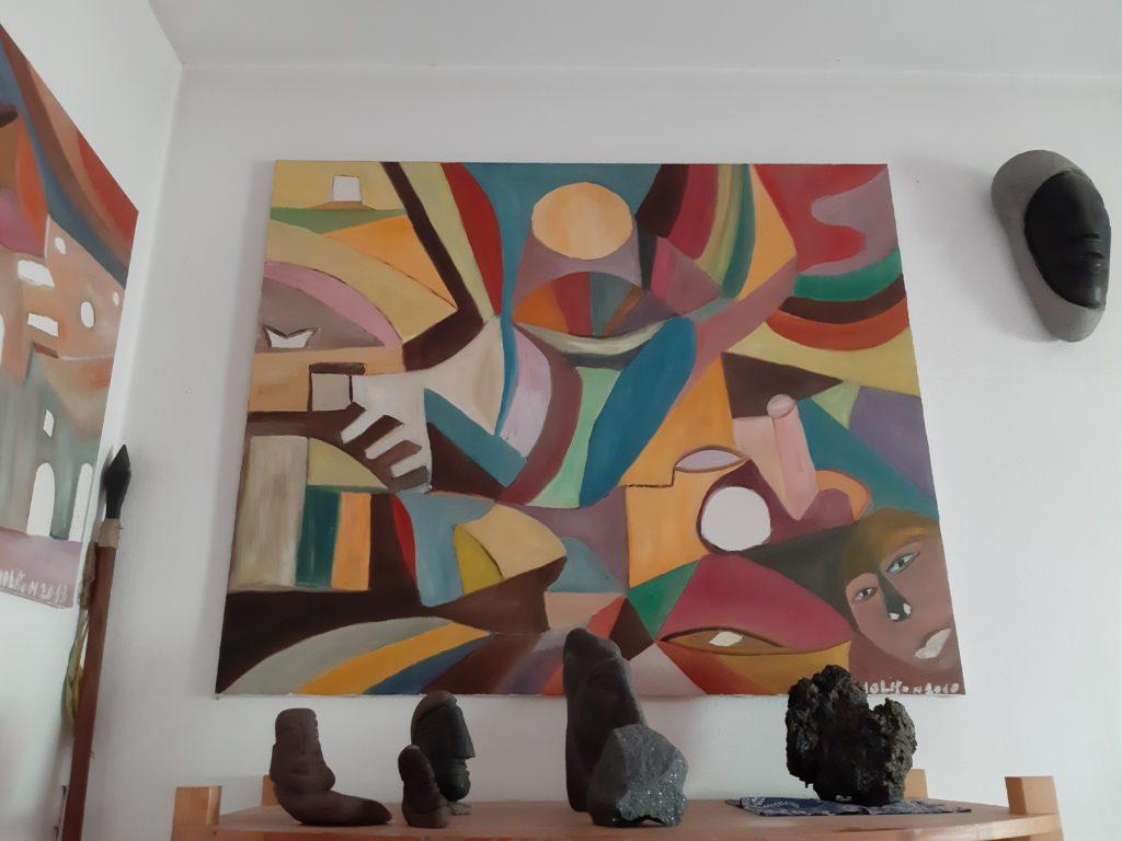 Sculture di Salvatore Russo e quadro di Mario Cusolito