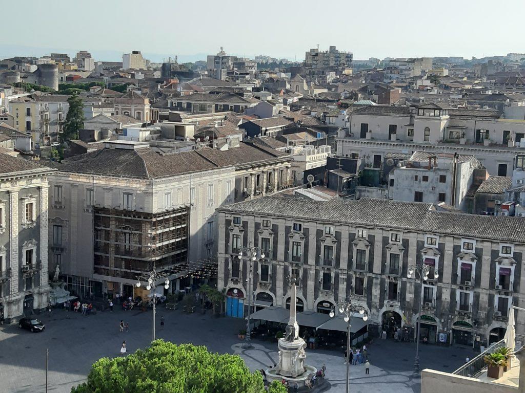 Il panorama dalla Badia di Sant'Agata di Piazza Duomo di Cataniala