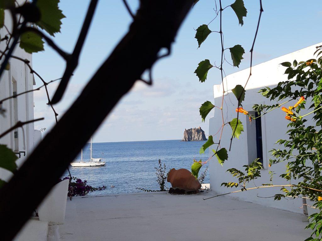 Panorama dall'hotel Sirenetta di Strombolicchio