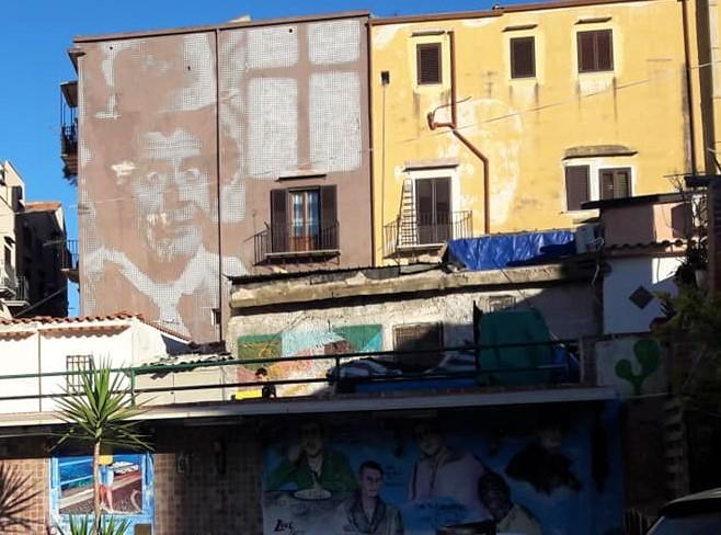 Il murale a Ballarò di Franco Franchi