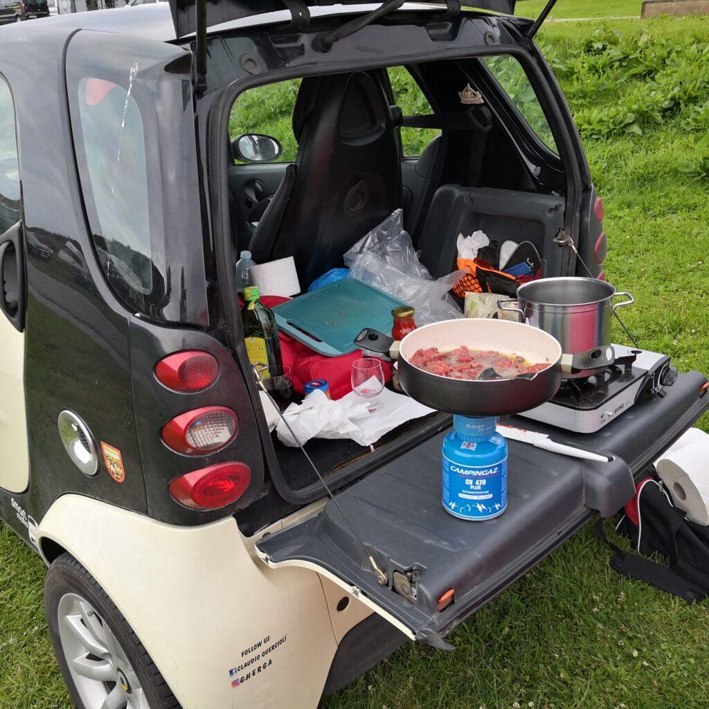 Viaggiare e cucinare in Smart con Claudioamin
