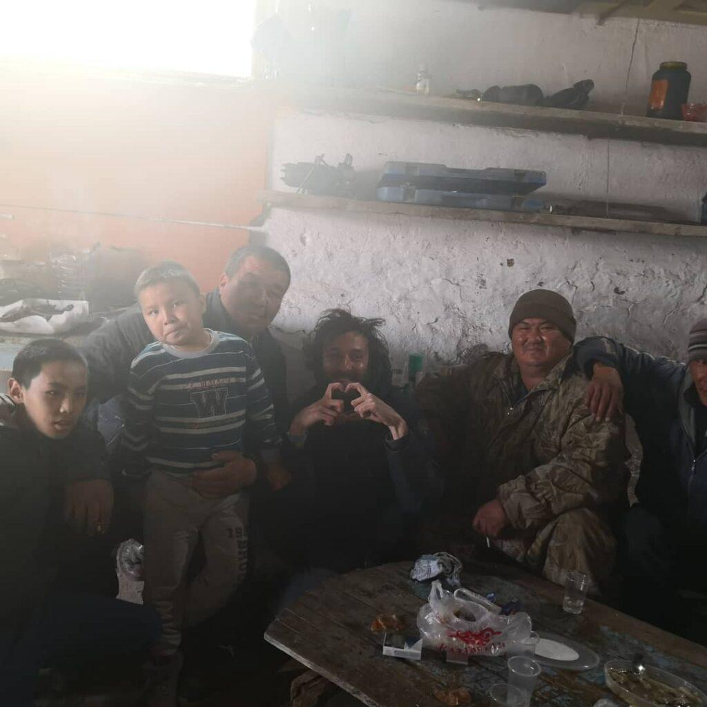 Claudio a casa di una famiglia del Kazakistan Kazakistan